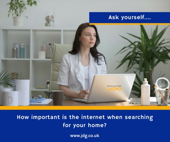 How important is the internet when searching for your property?