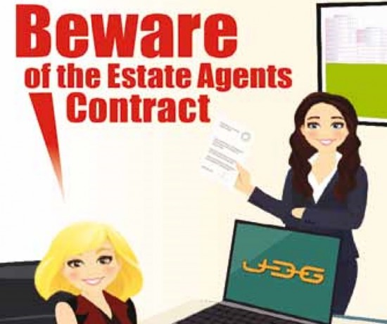 Beware of the Estate Agents Contract