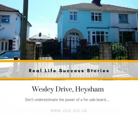 A real life success story – Wesley Drive, Heysham