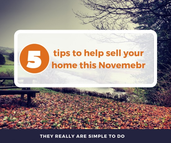 5 top tips to sell your home in November