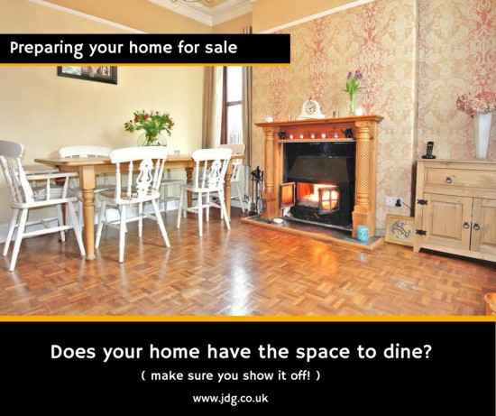 Preparing your home for sale. The Dining Room