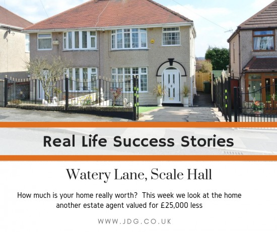 Real Life Success Stories.  Selling Watery Lane, Scale Hall