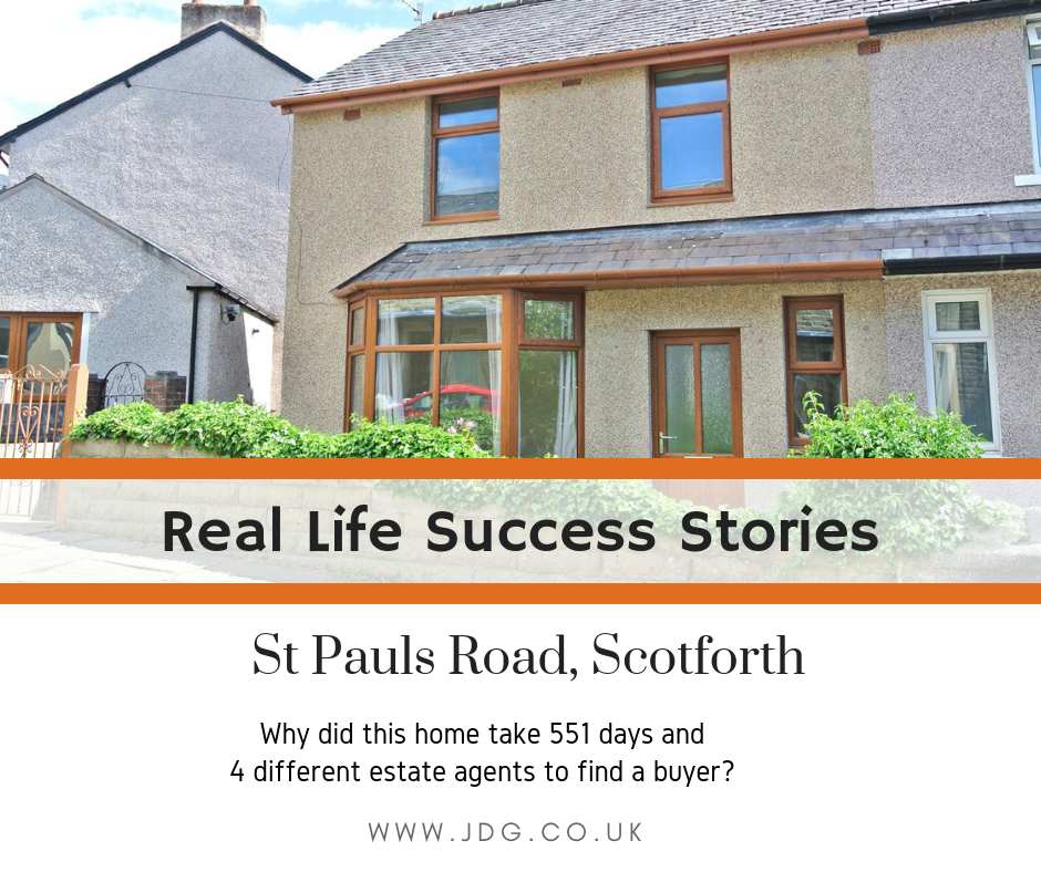 Real Life Success Stories.  Selling St Pauls Road,  Scotforth