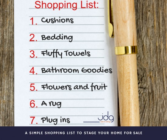 A simple shopping list to stage your home for sale
