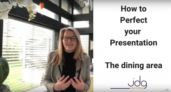 How to perfect your presentation. The dining room