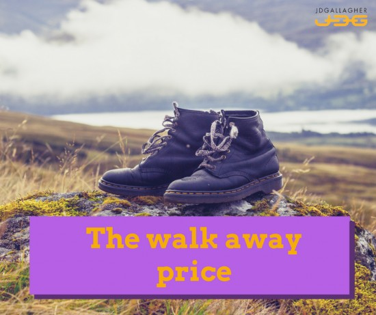 The walk away price.  What is it?